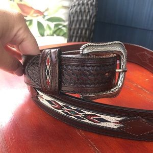 Vintage Wrangler Southwestern Hand-Tooled Leather